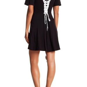 Kendall & Kylie Dresses - Kendall + Kylie BUSTIER LACE BACK T-SHIRT DRESS XS